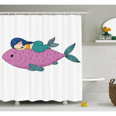 Turner Baby Fish Kids Nursery Shower Curtain Size: 69 W x 70 L