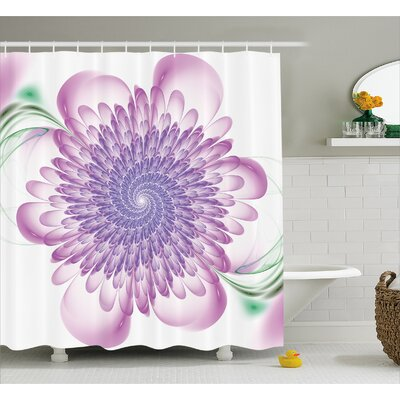 Delray Floral Harmonic Spirals Shower Curtain Size: 69 W x 75 L