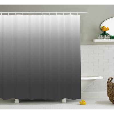 Inspired Metal Smoke Room Decor Shower Curtain Size: 69 W x 84 L