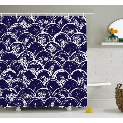 Carressa Round Abstract Decor Shower Curtain Size: 69 W x 84 L