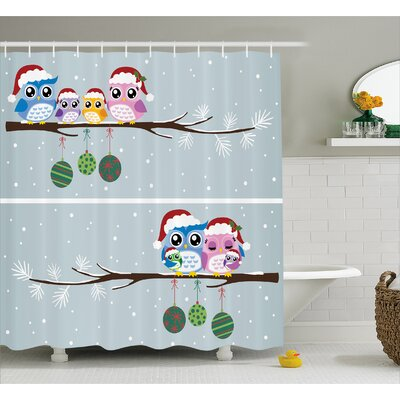 Stan Christmas Family Shower Curtain Size: 69 W x 70 L