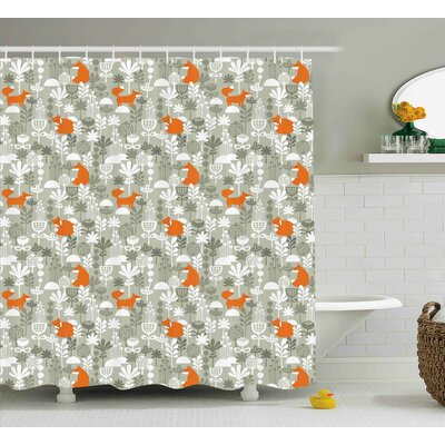Keyshawn Fox in the Winter Forest Shower Curtain Size: 69 W x 75 L