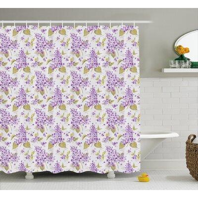 Nahlia Nostalgic Floral Petals Shower Curtain Size: 69 W x 75 L