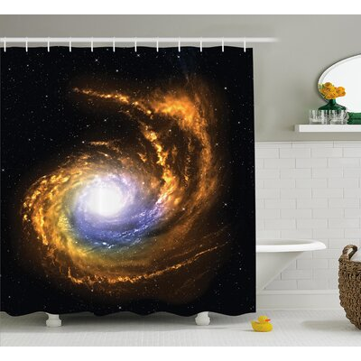 Cosmic Nebula Cloud Shower Curtain Size: 69 W x 84 L