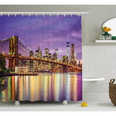 Brunelle Broadway Scenery NYC Shower Curtain Size: 69 W x 84 L