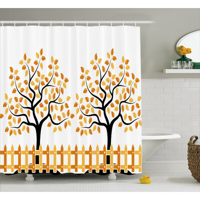 Burnham House Fall Autumn Trees Shower Curtain Size: 69 W x 84 L