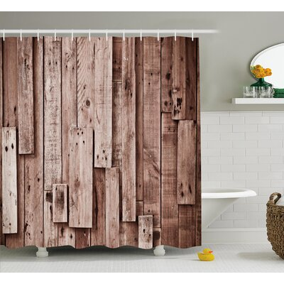 Beauville Vintage Barn Floor Art Shower Curtain Size: 69 W x 75 L