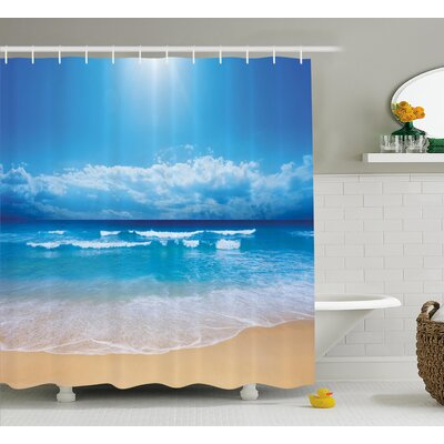 Beaty Cloudy Sky in Sea Summer Shower Curtain Size: 69 W x 75 L