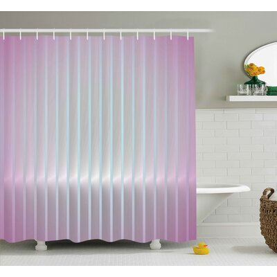 Blaize Vertical Wave Lines Shower Curtain Size: 69 W x 84 L