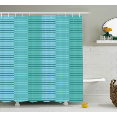 Celestine Digital Stripes Lines Shower Curtain Size: 69 W x 75 L