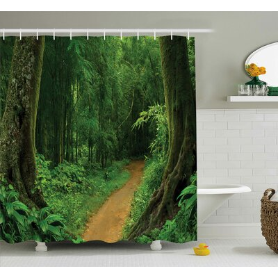 Jungle Nature Call Park Design Shower Curtain Size: 69 W x 75 L