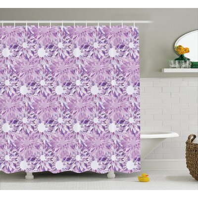 Carolos Digital Floral Decor Shower Curtain Size: 69 W x 75 L