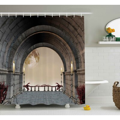 Gothic Antique Vintage Decor Shower Curtain Size: 69 W x 75 L