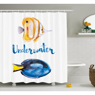 Roxann Pacific Tang Fish Shower Curtain Size: 69 W x 70 L