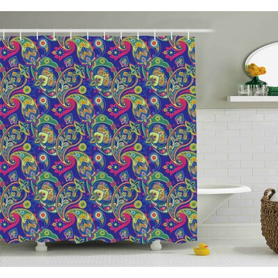 Hakeem Classic Persian Welsh Shower Curtain Size: 69 W x 84 L