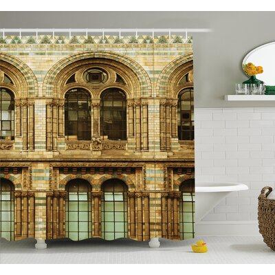 Historic European City Building Shower Curtain Size: 69 W x 75 L