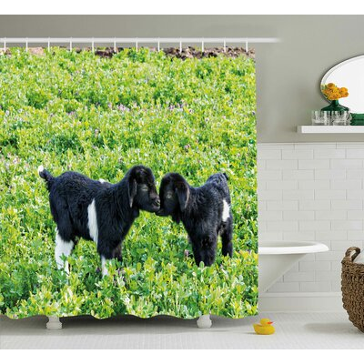 Animal Nature Hills Garden Shower Curtain Size: 69 W x 84 L