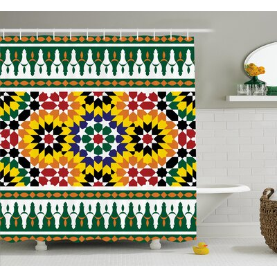 Atkinson Vibrant African Pattern Shower Curtain Size: 69 W x 75 L