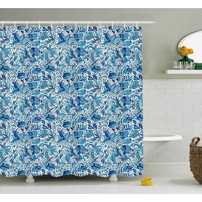Beachborough Middle Eastern Nature Shower Curtain Size: 69 W x 84 L