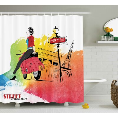 Deidra Tower Street Fashion Shower Curtain Size: 69 W x 84 L