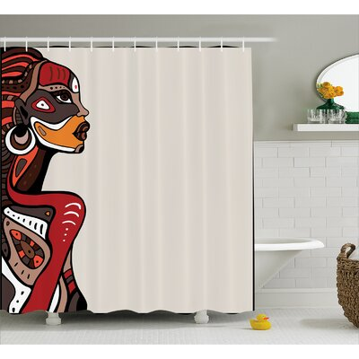 Avia African Ethno Fashion Shower Curtain Size: 69 W x 84 L