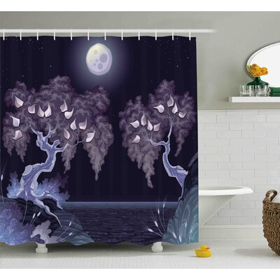 Glenn Magical Dramatic Night Shower Curtain Size: 69 W x 75 L