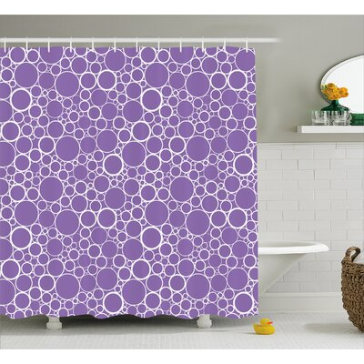 Beeks Abstract Fractal Circles Shower Curtain Size: 69 W x 75 L