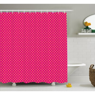 Zakary Feminine Nostalgic Design Shower Curtain Size: 69 W x 84 L