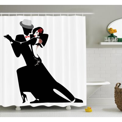 Townsend Romantic Dance Partners Shower Curtain Size: 69 W x 75 L