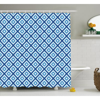 Hampshire Geometric Diamond Form Shower Curtain Size: 69 W x 75 L