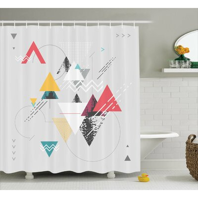 Billips Triangle Geometric Shower Curtain Size: 69 W x 84 L