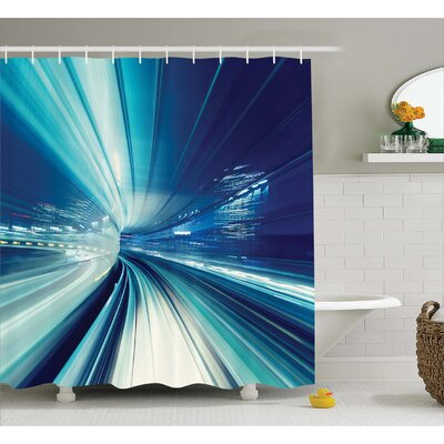 Abrielle Asian Tokyo at Night Shower Curtain Size: 69 W x 70 L