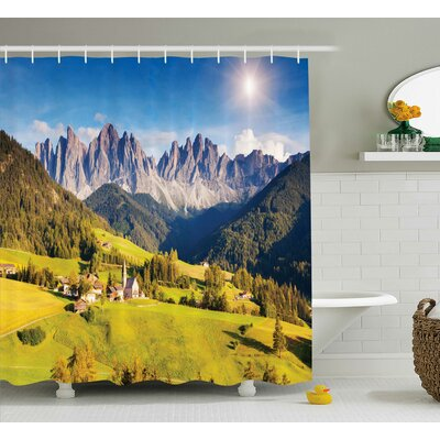 Nature Morning at Countryside Shower Curtain Size: 69 W x 75 L