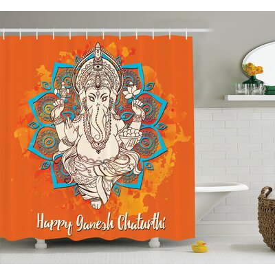 Beldin Indian Religion Ceremony Shower Curtain Size: 69 W x 70 L