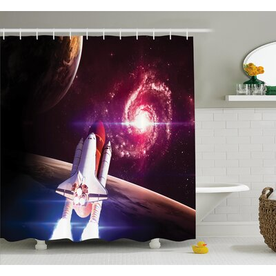 Milky Way Galactic Decor Shower Curtain Size: 69 W x 70 L