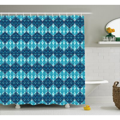 Giovanni Oriental Patchwork Decor Shower Curtain Size: 69 W x 70 L
