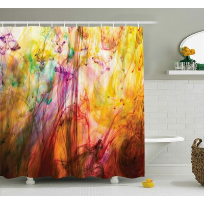 Florance Rainbow Colored Image Shower Curtain Size: 69 W x 84 L