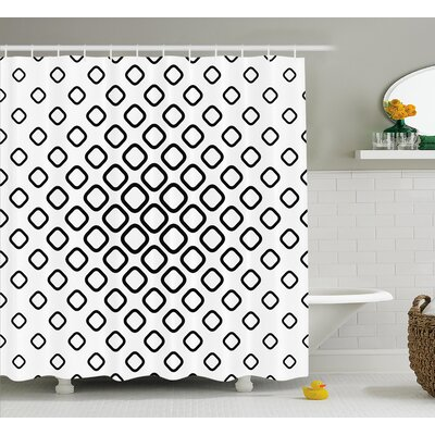 Baney Trippy Fractal Rounds Shower Curtain Size: 69 W x 75 L