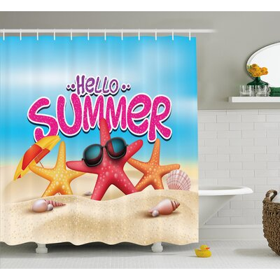 Lifestyle Inspirational Beach Shower Curtain Size: 69 W x 75 L