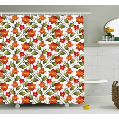 Canterbury Boho Herbs Lily Nature Shower Curtain Size: 69 W x 70 L