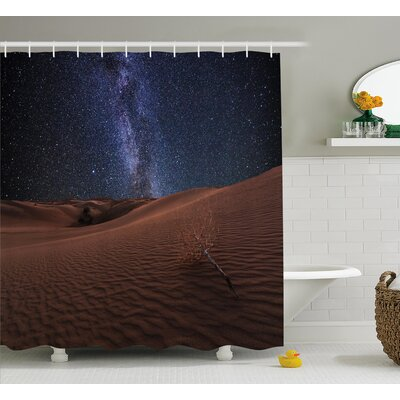 Space Desert Lunar Life on Mars Shower Curtain Size: 69 W x 70 L