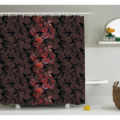 Armando Japanese Vivid Florals Shower Curtain Size: 69 W x 75 L