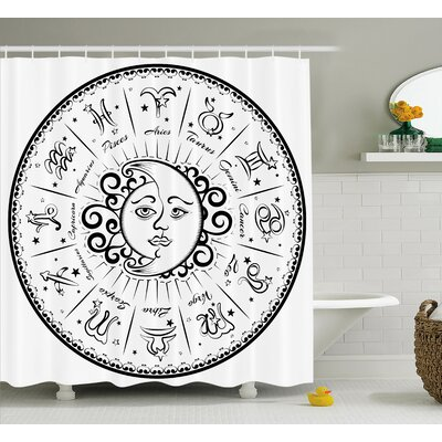 Alexi Astrology Moon Sign Shower Curtain Size: 69 W x 75 L