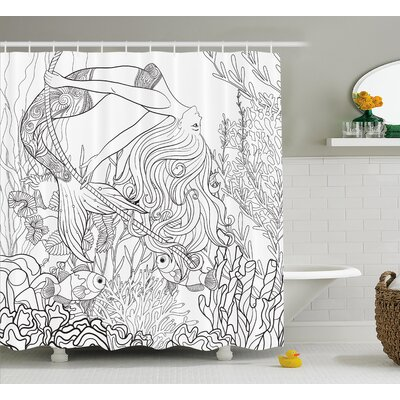 Mackenzie Surreal Little Mermaid Shower Curtain Size: 69 W x 70 L