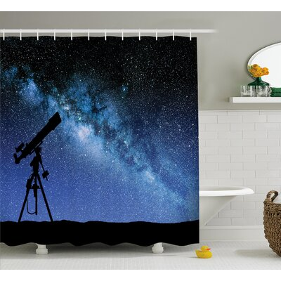 Gregoria Milky Way Night Gregoria Shower Curtain Size: 69 W x 75 L