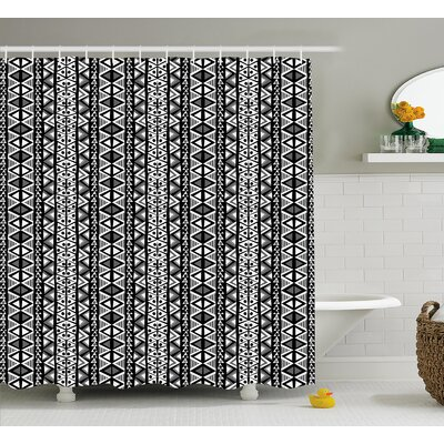 Bangs Ethnic Boho Aztec Decor Shower Curtain Size: 69 W x 75 L