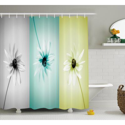 Abstract Different Daisy Flower Shower Curtain Size: 69 W x 75 L