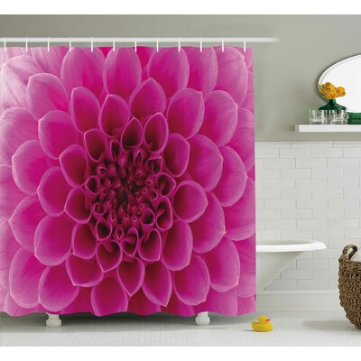 Hardin Fresh Bloom Petal Nature Shower Curtain Size: 69 W x 84 L