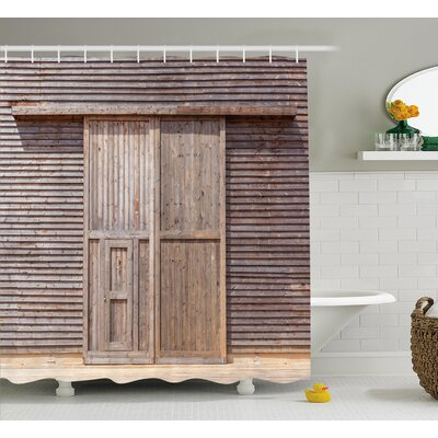 Livingston Old Wooden Timber Shower Curtain Size: 69 W x 75 L
