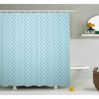 Jefferson Wavy Lines Circled Decor Shower Curtain Size: 69 W x 75 L